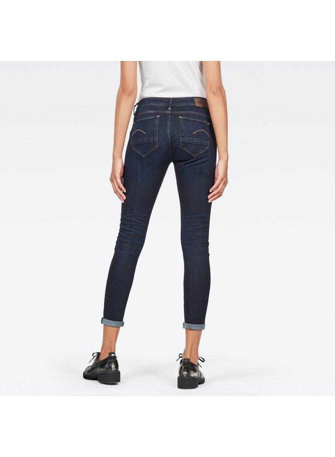 G-Star Jeans Arc 3D Mid Skinny D05477 8968 89 - 89  Donker Blauw