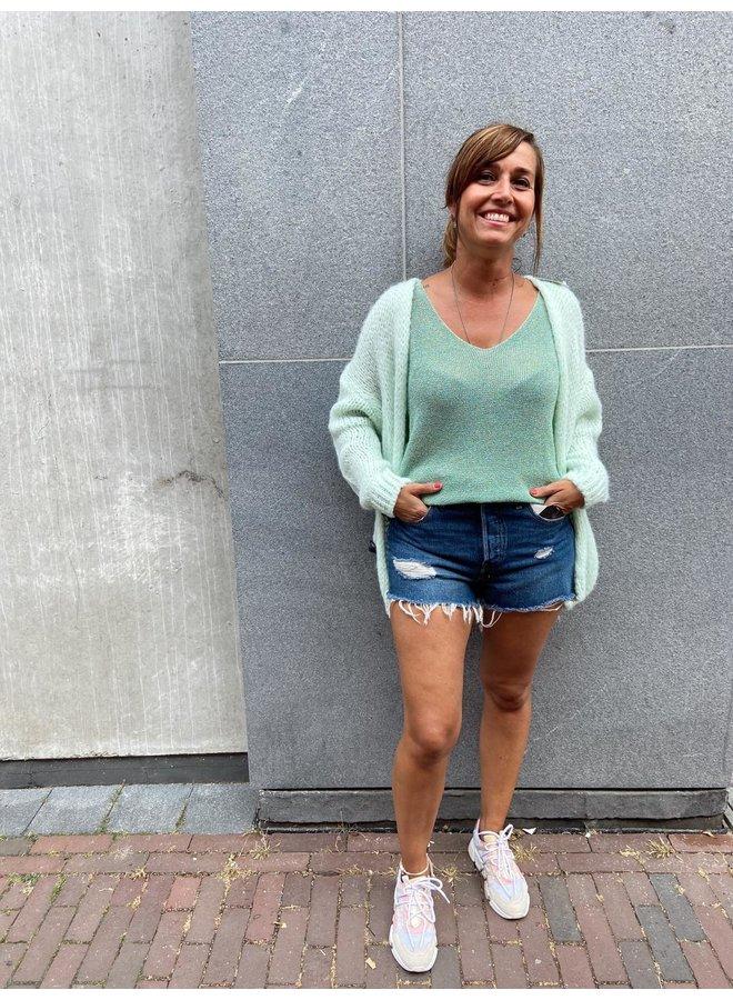Boebou Glitter Summer Top - Groen