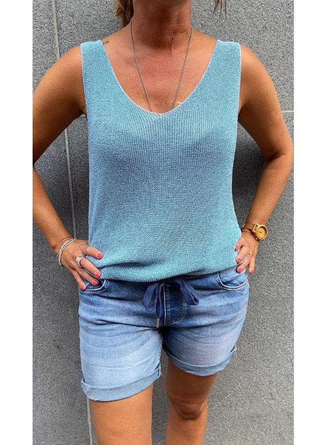 Glitter Summer Top - Blauw