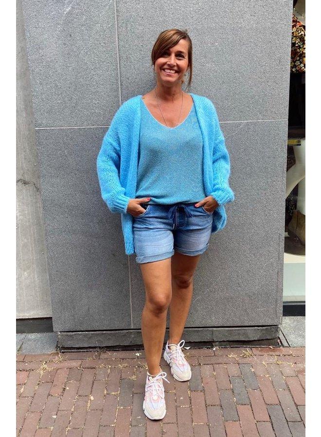 Boebou Glitter Summer Top - Blauw