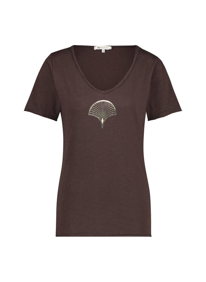NUKUS Waaier T-Shirt - Brown