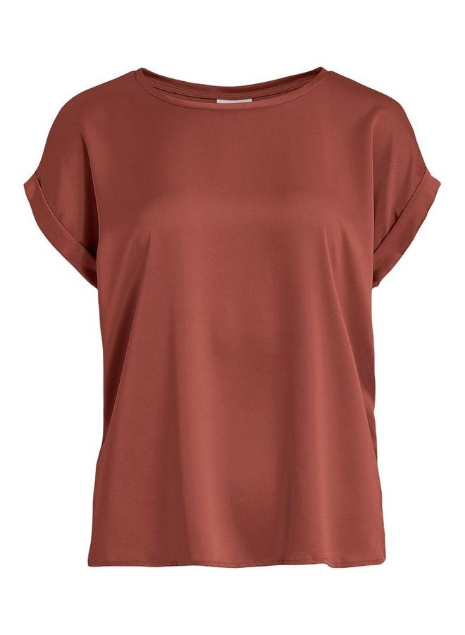 Vila T-Shirt VIELLETTE 14064672 - Burnt Henna