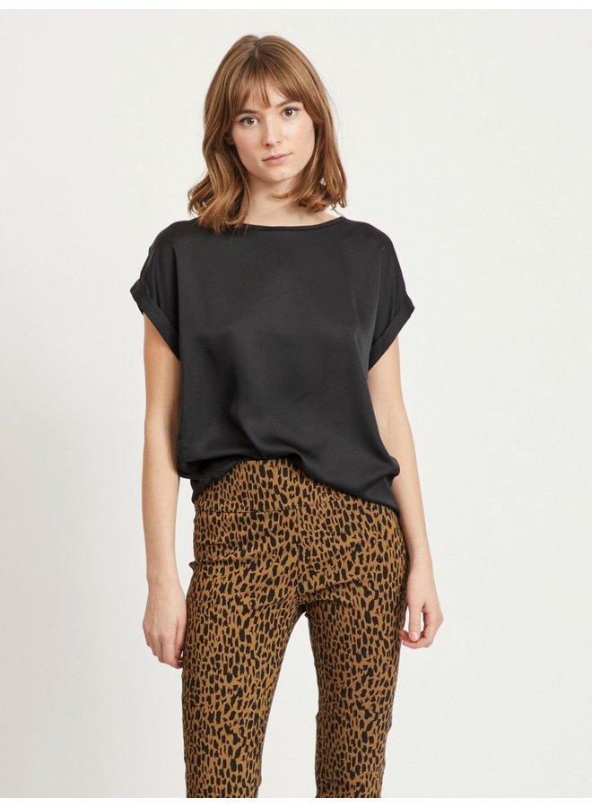 Vila T-Shirt VIELLETTE 14059563 - Black