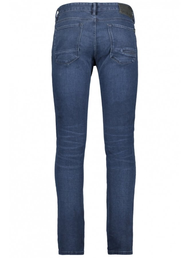 CAST IRON Slim Fit Jeans CTR390-MBU - Mid Blue Used