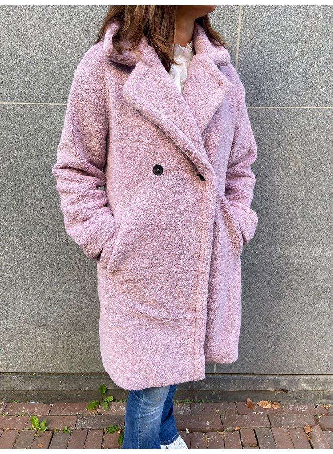 Greenfield Fashion Jas KZL.8104 Teddy Lang - Lila