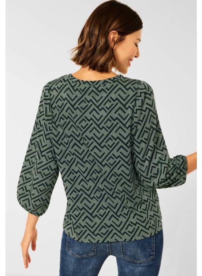 Street one Soft Geometric Dessin Shirt - 23389