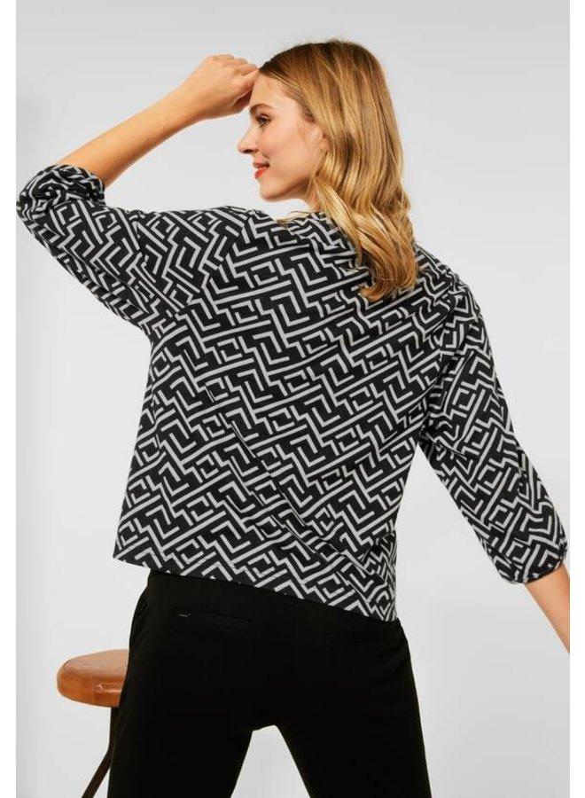 Street one Soft Geometric Dessin Shirt - 20001