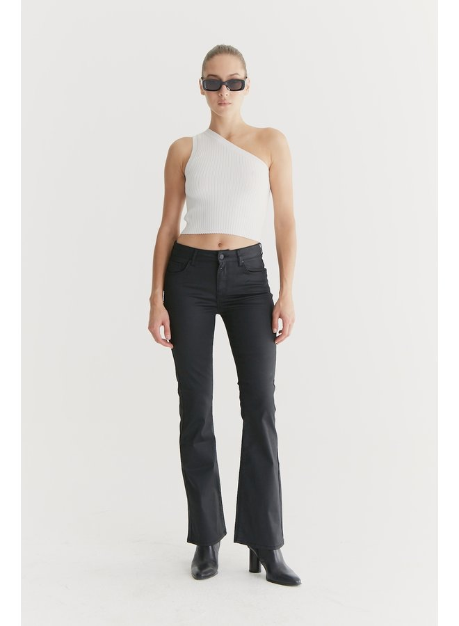 Flared Jeans Laura - Black Coated