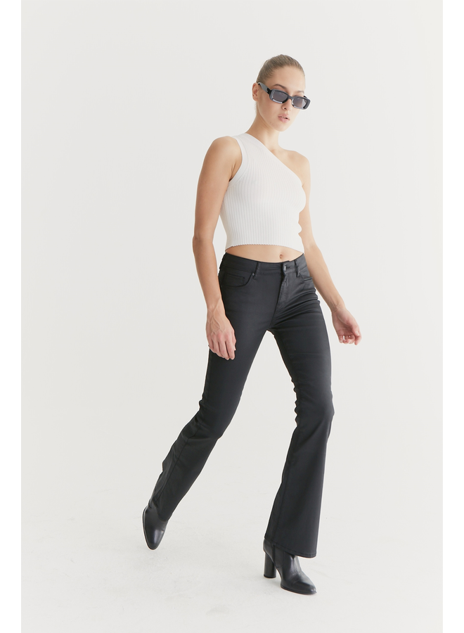 Cup of Joe Flared Jeans Laura - Black Coated