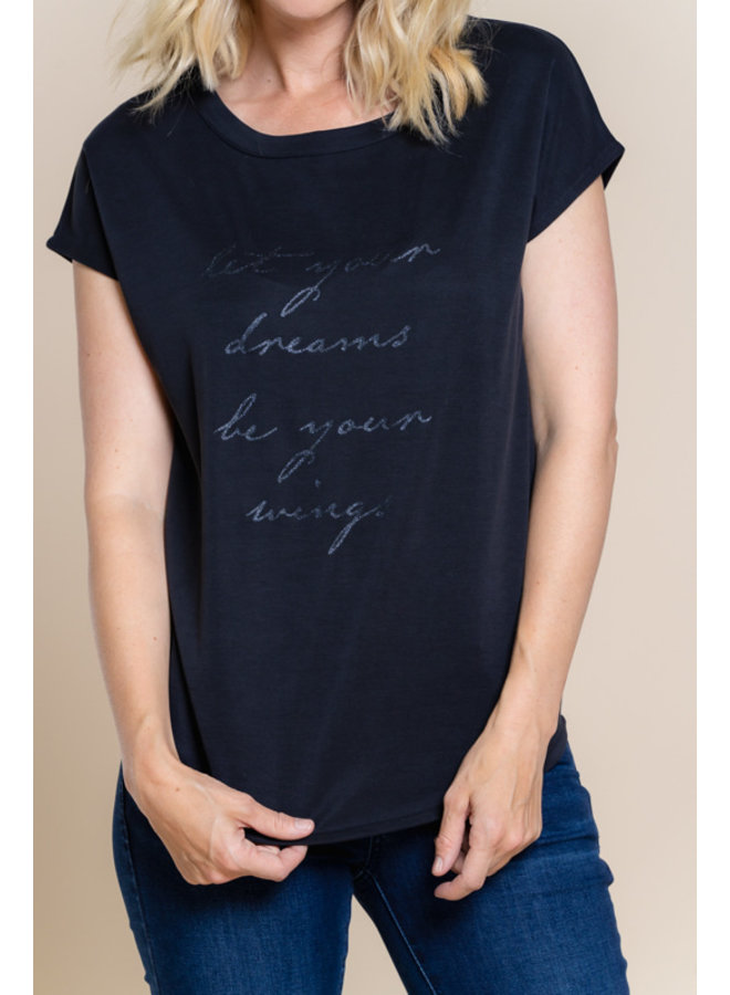 T-Shirt Let Your Dreams Your W 12604-25 - 000950