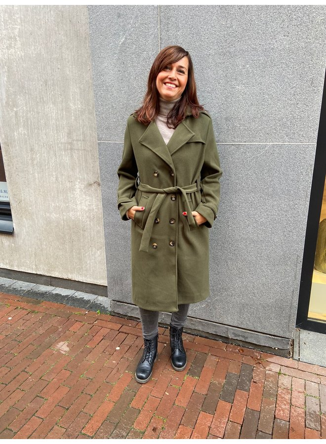 Typical Jill 10157 Lexi Trenchcoat - Olive
