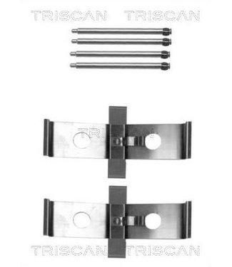 Triscan brakepads mounting kit front