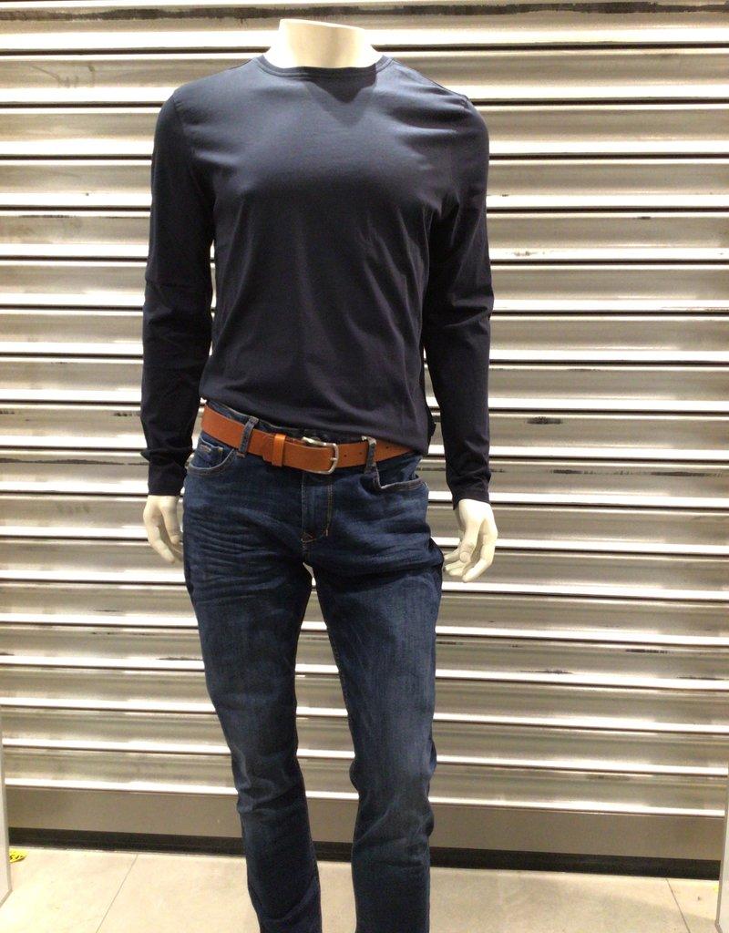 Kitaro Basic T-shirt O-hals Lange Mouw 69161 +