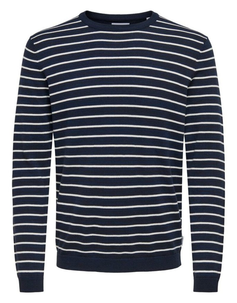 Only & Sons Only & Sons Gestreepte Trui 22018956