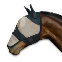 Chetaime Vliegenmasker met oren en afritsbare neus - Zwart/Beige