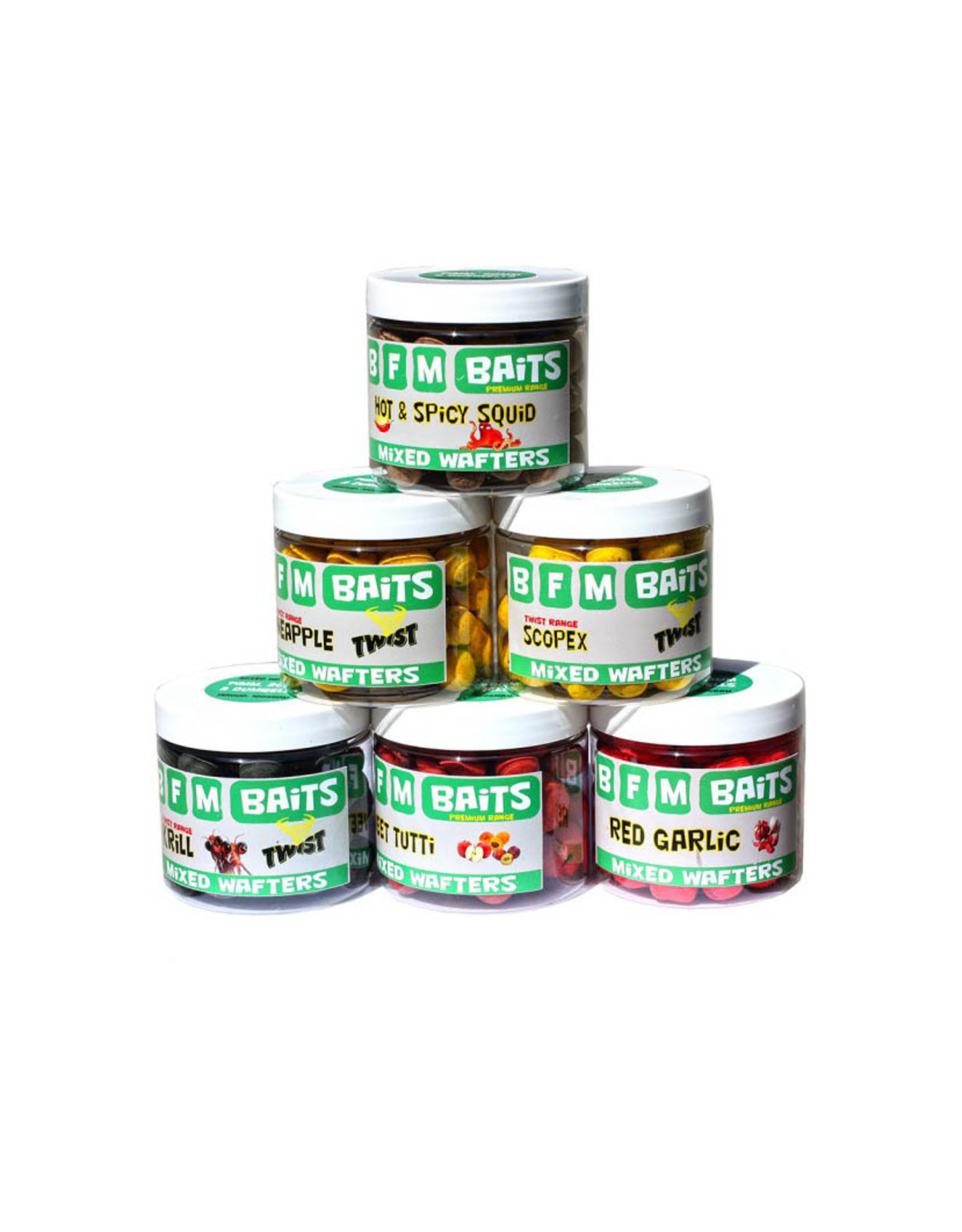 BFM Baits Hot & Spicy Squid - Mixed Wafters