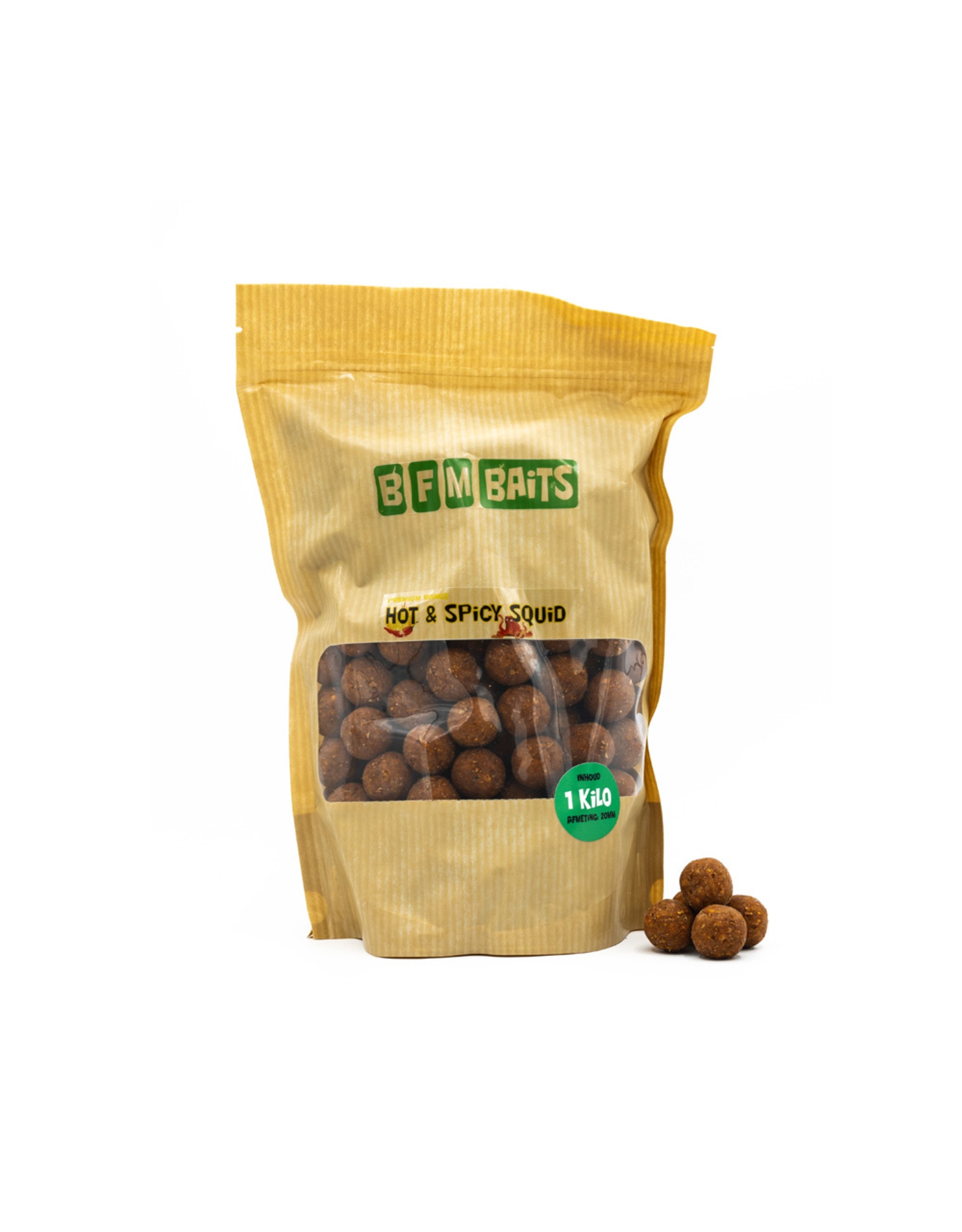 BFM Baits Hot & Spicy Squid boilies