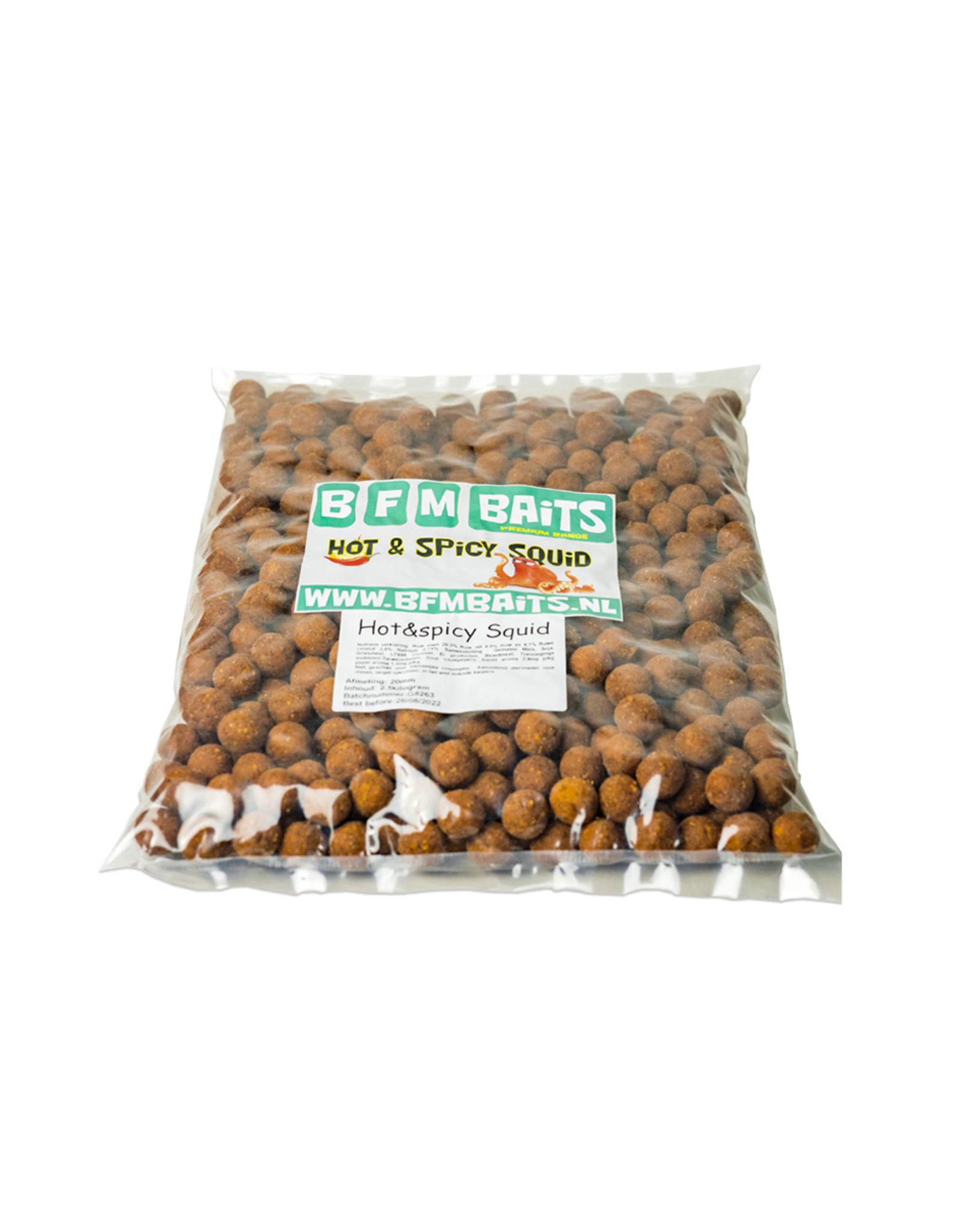 BFM Baits Hot & Spicy Squid boilies - Bulk deal