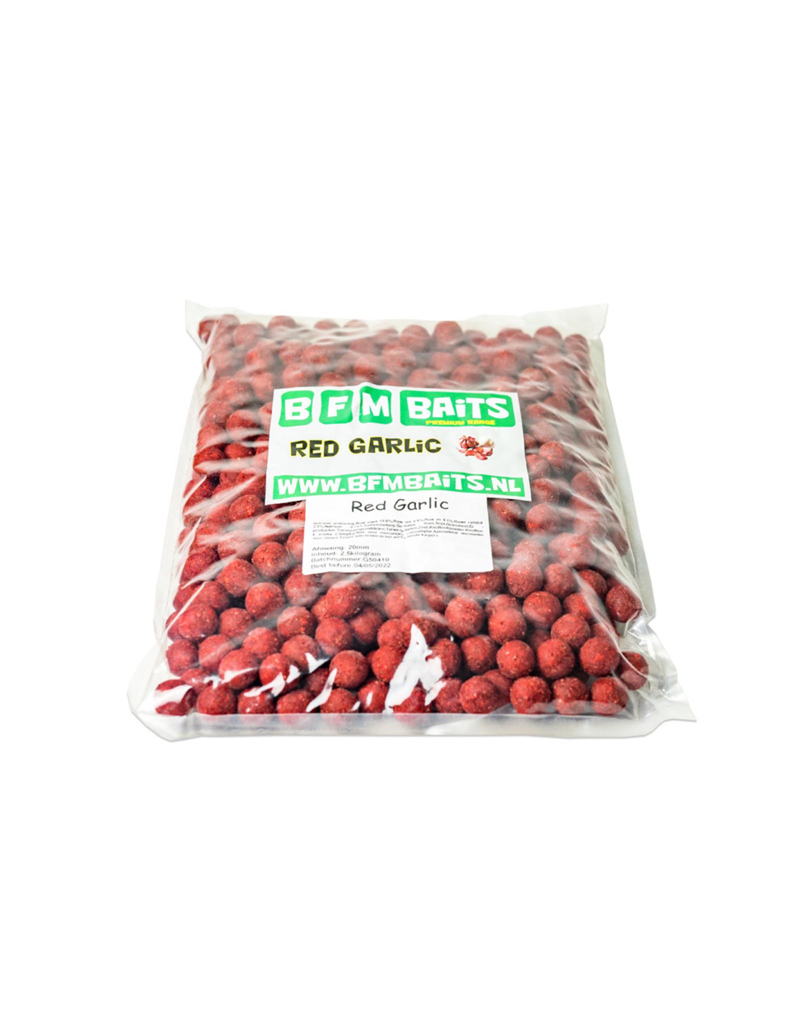 BFM Baits Red Garlic boilies - Bulk deal