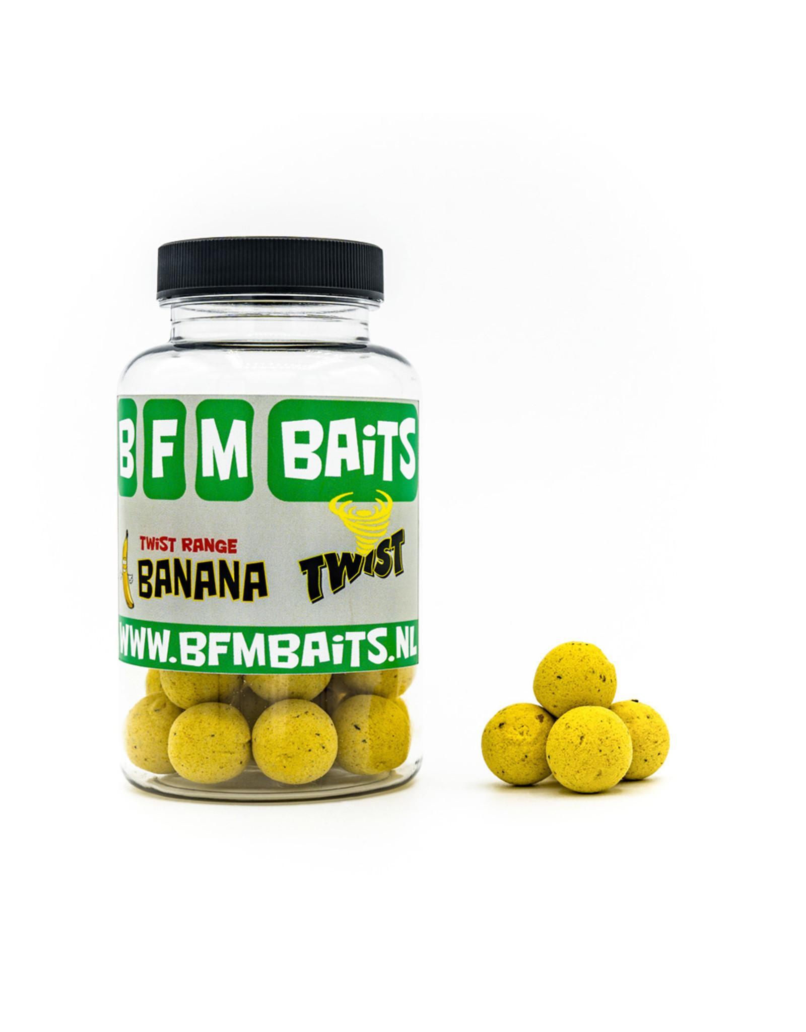BFM Baits Banana Twist  boilies - Bucket deal