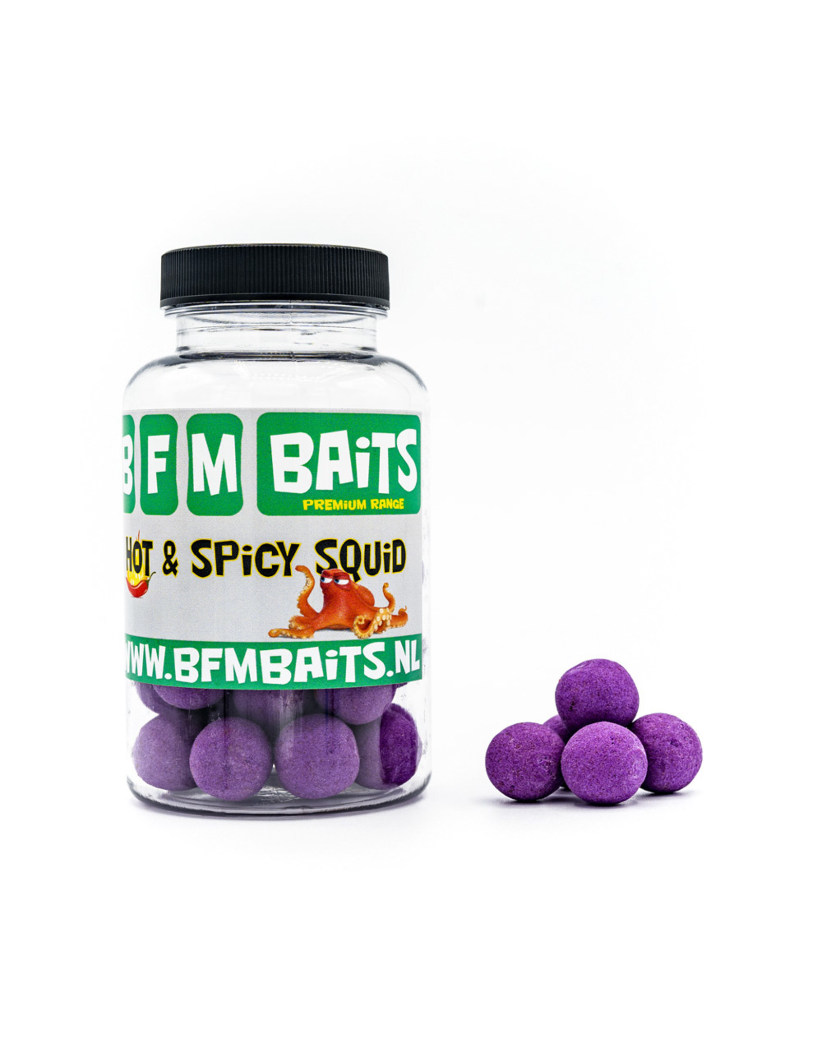 BFM Baits Hot & Spicy Squid boilies - Bucket deal