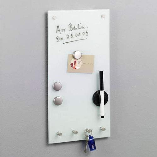 Magnetisch whiteboard  20 x 40 cm Zeller Present | inclusief accessoires