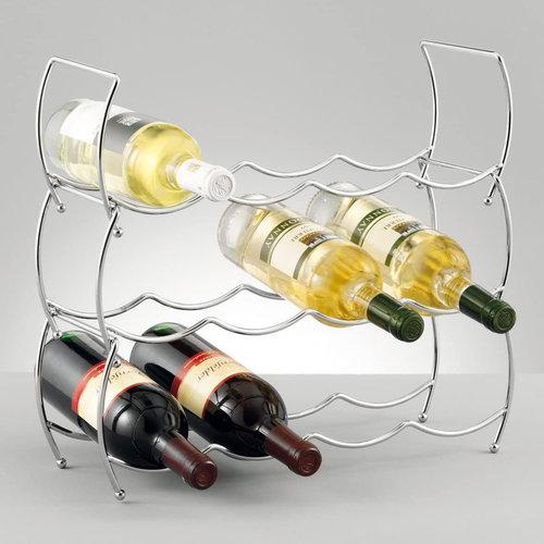 Zeller Present Wijnrek stapelbaar van metaal Zeller | Flessenrek