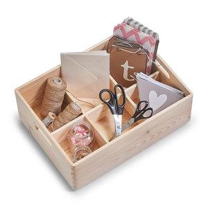 Houten opbergbox 40 x 30 x 15 cm Zeller