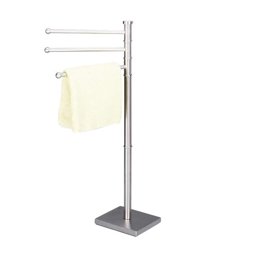 Zeller Present Handdoekhouder vrijstaand Zeller | 3 draaibare stangen