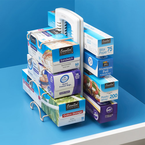 Youcopia Keuken organizer staand | voor folie, bakpapier, ziplocks