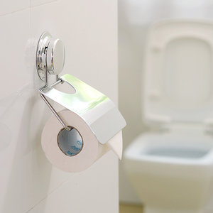Toiletrolhouder zonder boren (turn-lock)