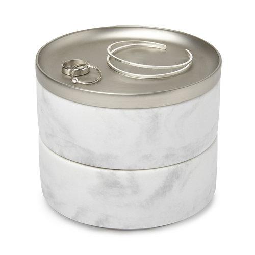 UMBRA Sieraden opberger marmer UMBRA | 2 stapelbare bakjes