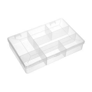 Plastic opbergbox met vakjes