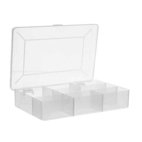 Five® Plastic opbergbox met vakjes