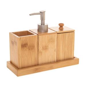 Zeepdispenser set hout Five®