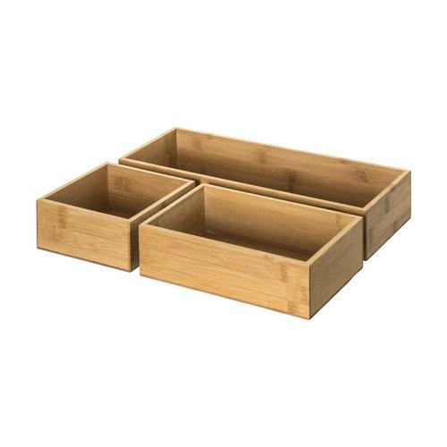 Five® Ladebakjes hout 3-delig Five®