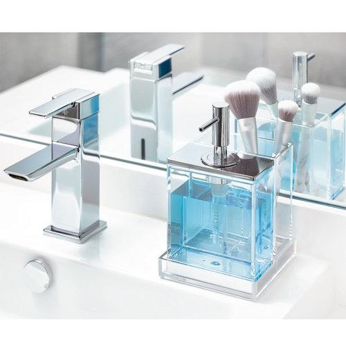 Zeepdispenser met tandenborstelhouder iDesign - Clarity