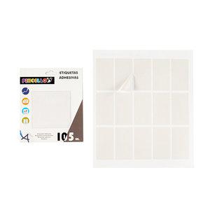 Witte stickers rechthoekig