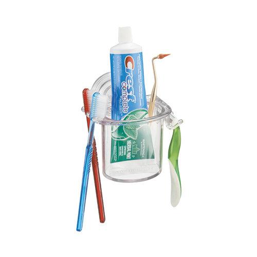 Badkamer organiser iDesign - Power Lock | Met tandenborstel- en scheermeshouder