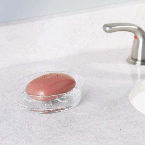 Wastafel accessoires set iDesign - Eva | Met plastic zeepbakje, zeeppompje en bekerset