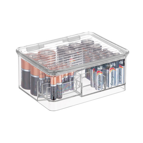 Batterij opbergdoos iDesign - Linus | stapelbaar