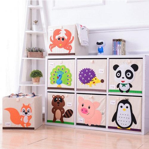 Opbergbox speelgoed dieren | opvouwbaar