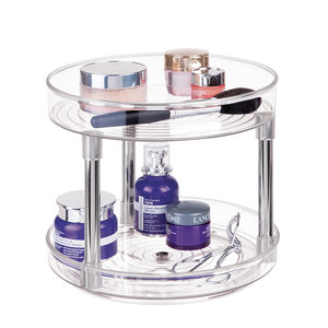 Lazy susan make-up organizer iDesign
