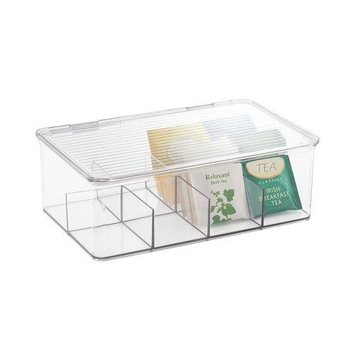 iDesign Theedoos transparant iDesign - Kitchen Binz | 8 vaks