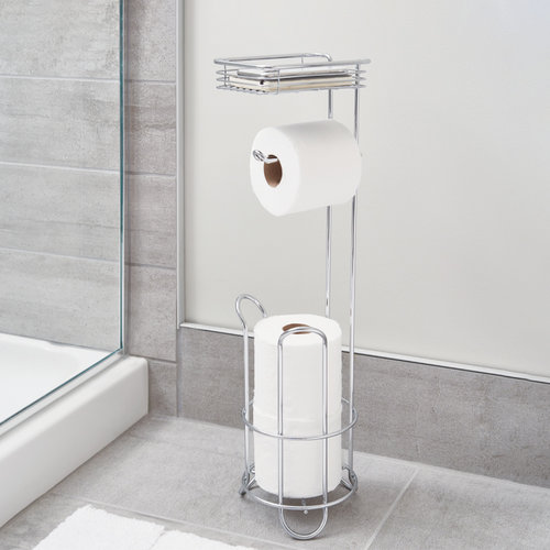 iDesign Toiletrolhouder staand iDesign - Classico | met opbergbakje