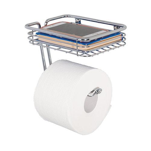 Toiletrolhouder met bakje iDesign - Classico | voor één rol, aan de muur