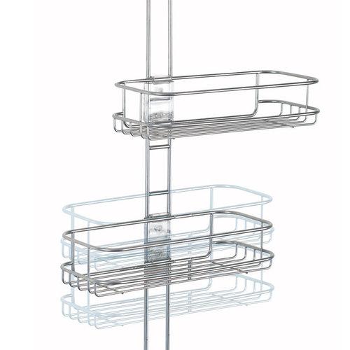 Hangend doucherek verstelbaar iDesign - Classico | met 2 verstelbare plankjes en zeepbakje