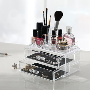 Organiser make up lades en display