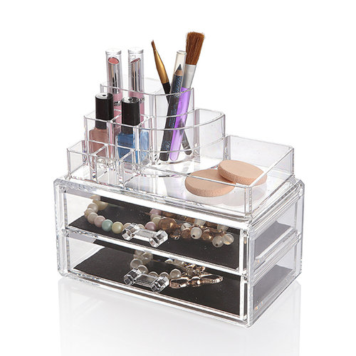 Organiser make up lades en display | 2 lades, display afneembaar