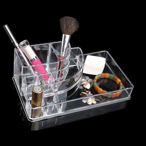 Make up organiser transparant | met nagellak- en lipstick display